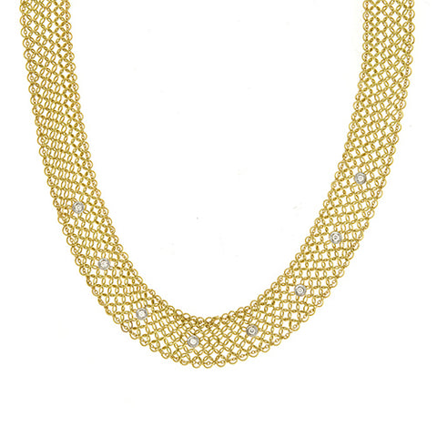 14K Gold Necklace with Diamond Adjustable Clasp