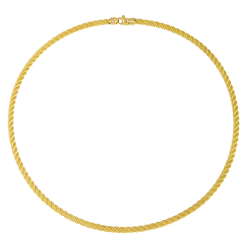 18K Yellow Gold Rope Necklace