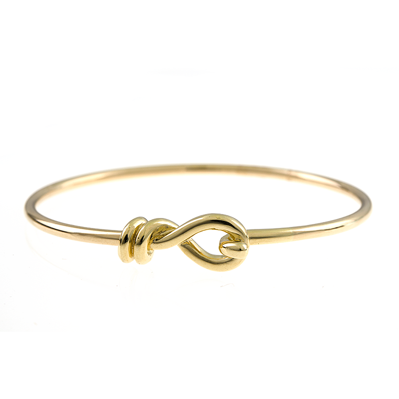 18K Gold Knot Bangle Bracelet, SOLD