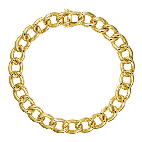 Yellow Gold Tube Collar Necklace