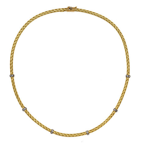 Gold and Diamond Circle Pendant