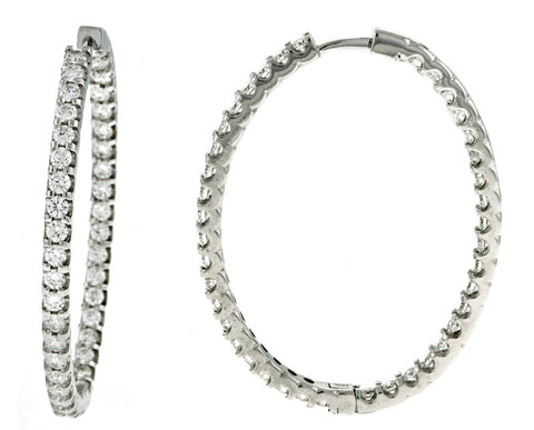 Italian Hammered White Gold Diamond Bracelet