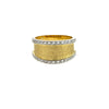 Hammered Gold Diamond Ring