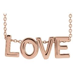 14K Rose Gold LOVE Necklace
