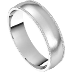 Satin Finish Platinum Wedding Band