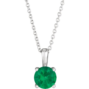 Emerald Pendant Necklace, SOLD