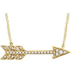 Diamond Arrow Pendant Necklace