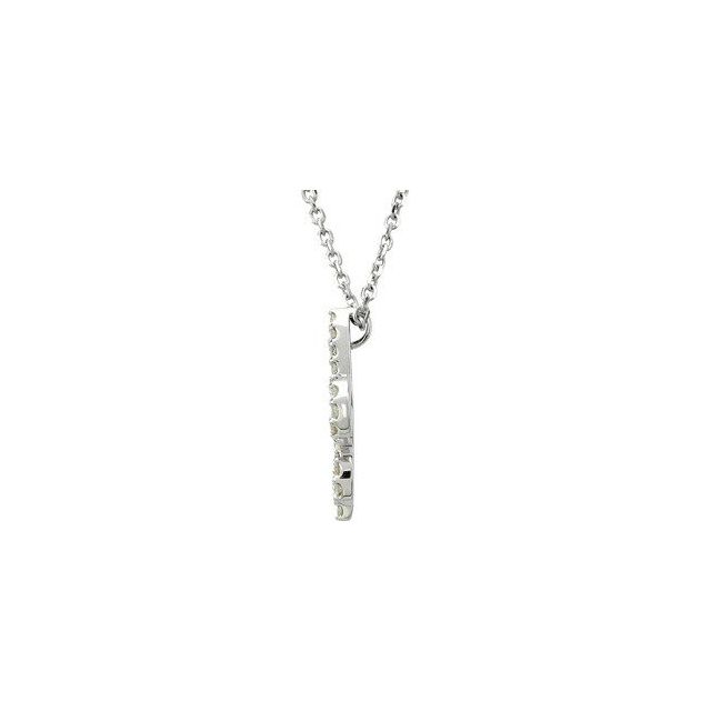 Diamond Fleur De Lis Necklace, SOLD