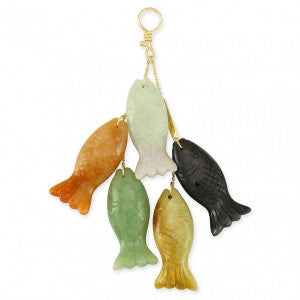 Natural Jade Fish Charm Pendant