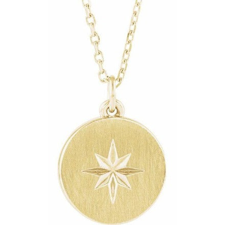 Gold Starburst Pendant on Chain, SOLD