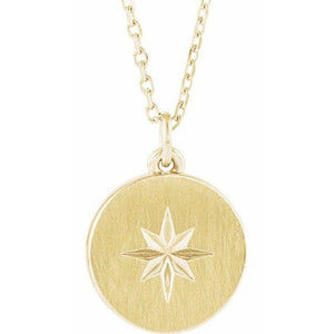 Gold Starburst Pendant on Chain