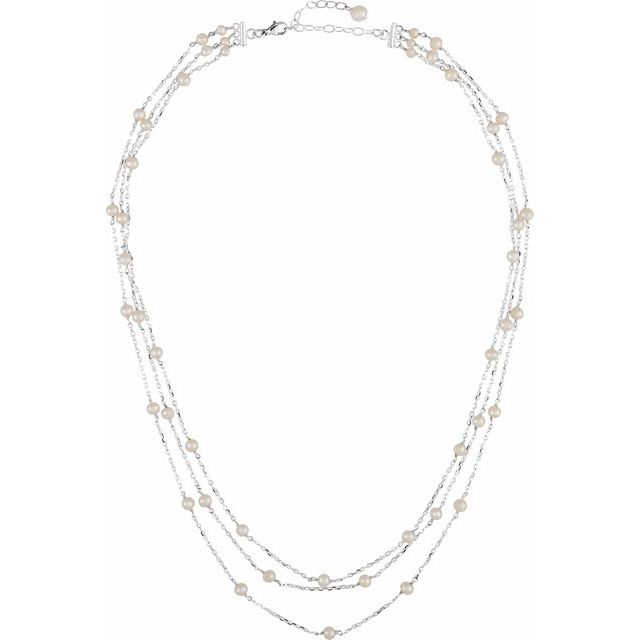 Sterling Silver Multi-Strand Pearl Necklace, SOLD