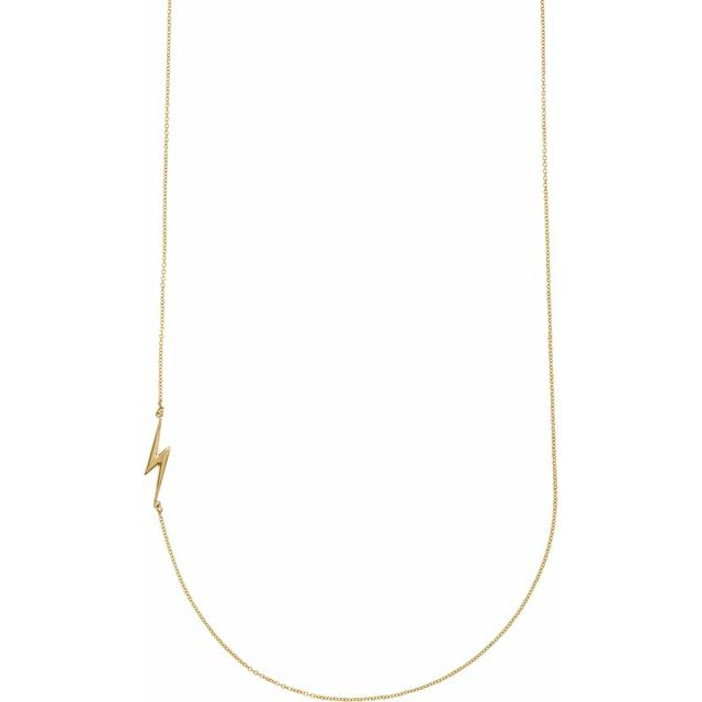 Gold Lightening Bolt Necklace