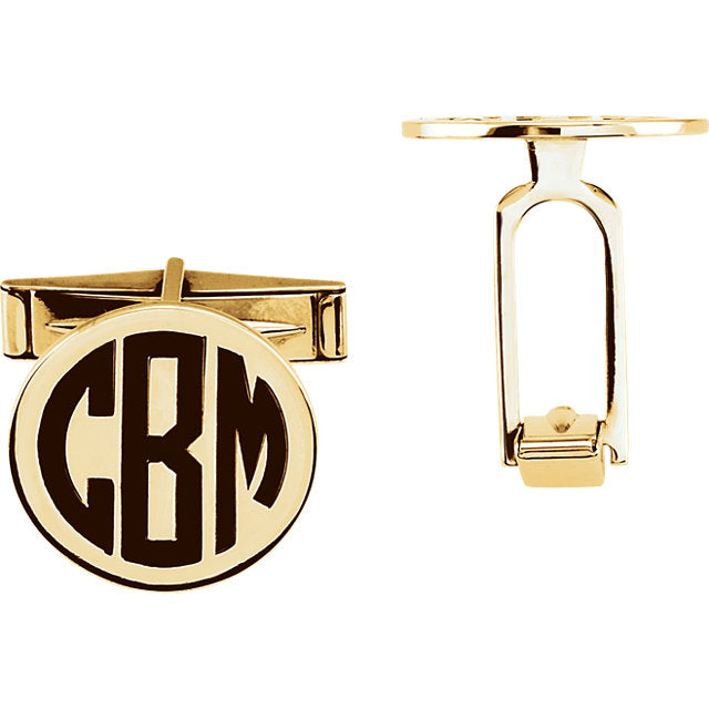 14k Gold Monogramed Cufflinks