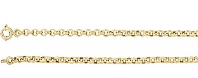 14K Rolo Chain, 6 1/2mm