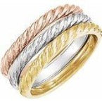 Three Gold Twist Bands