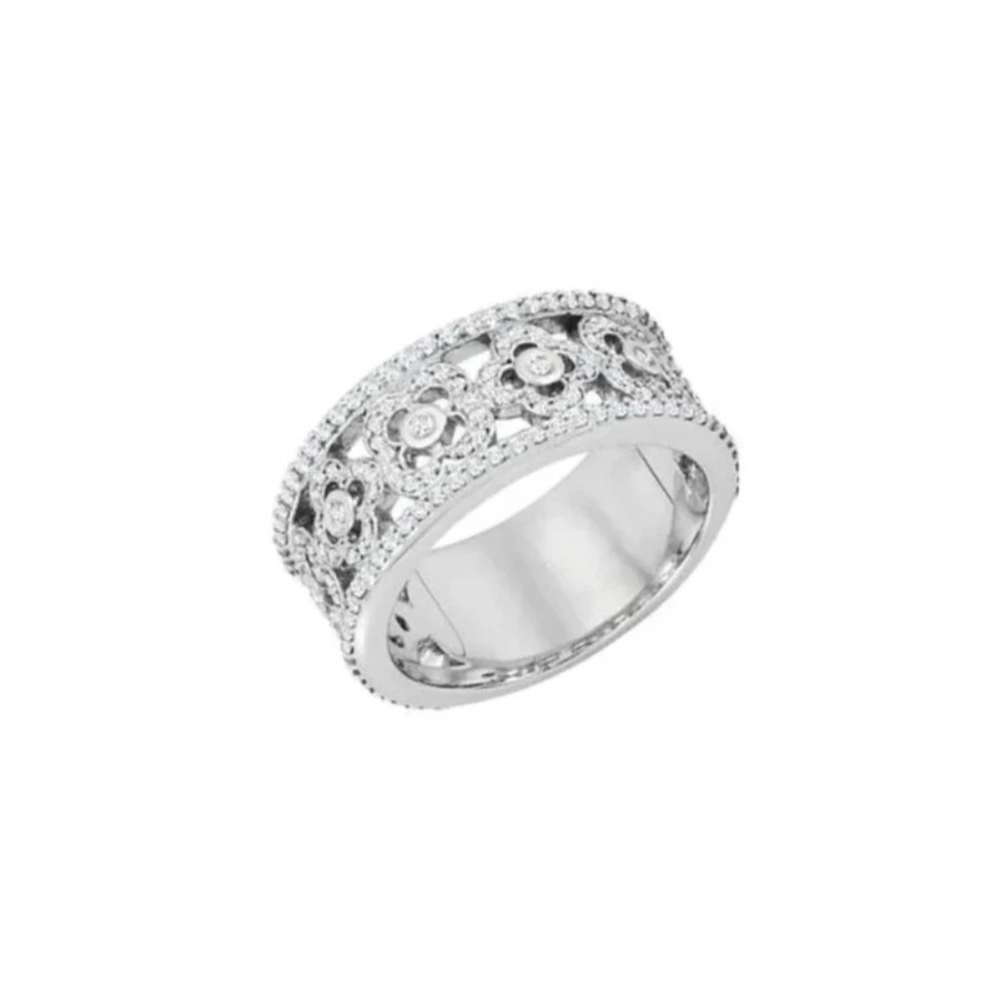 Platinum Diamond Floral Band