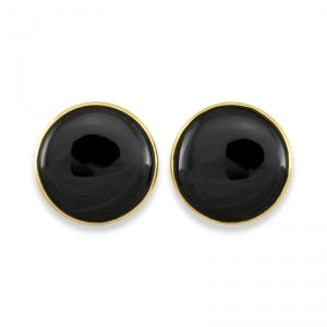 Natural Black Jade Cufflinks