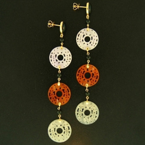 Vintage Janet Deleuse Designer Deco Earrings, SALE