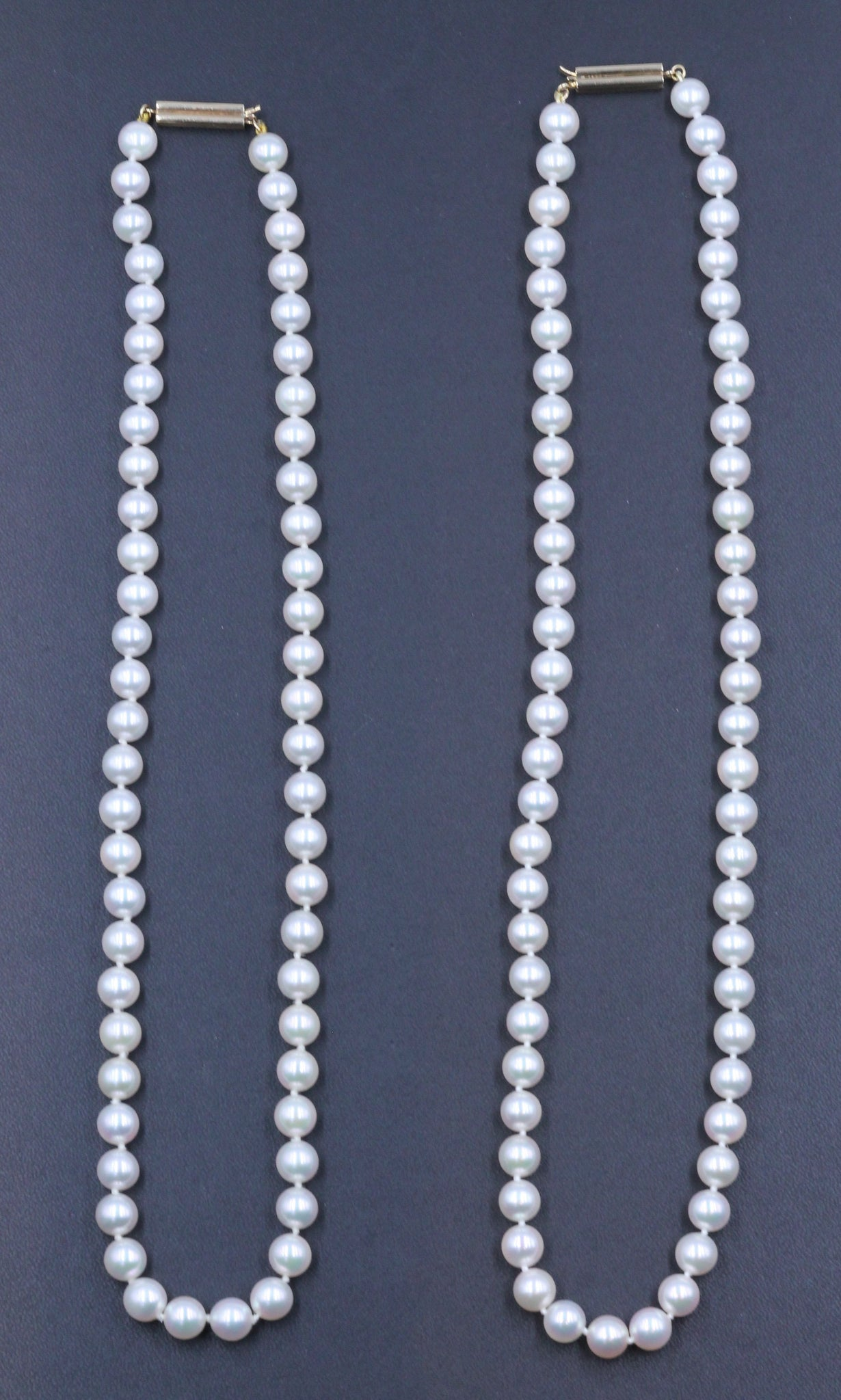 Vintage Cultured Akoya Pearl Necklaces