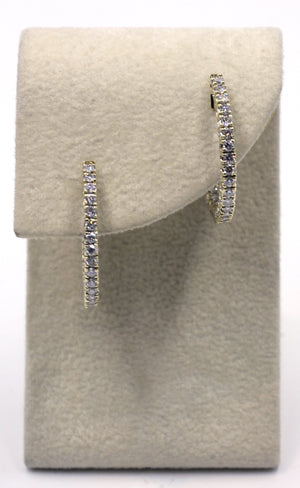 Vintage Diamond Hoop Earrings, SOLD