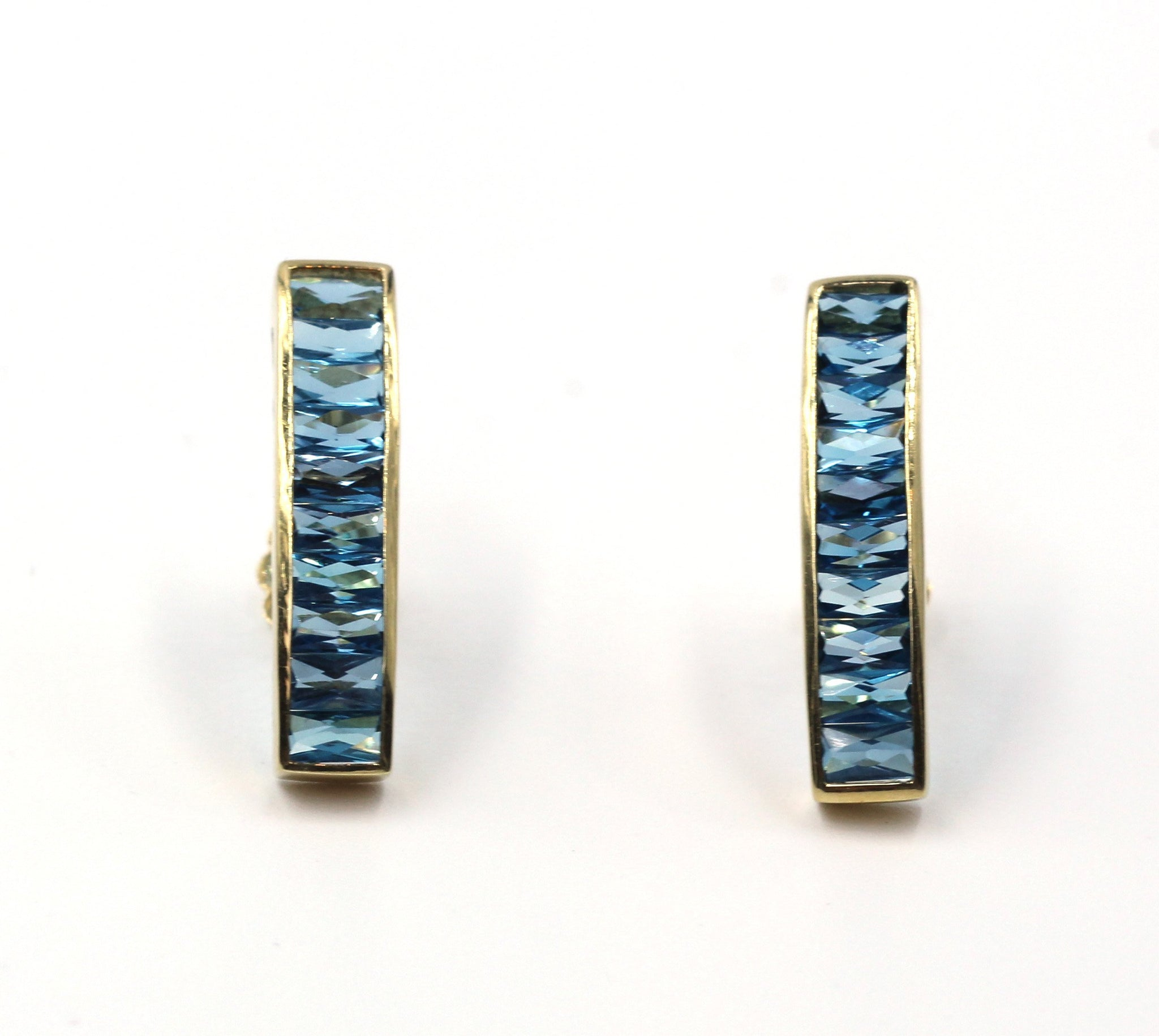 Vintage Blue Topaz Earrings, SALE, SOLD