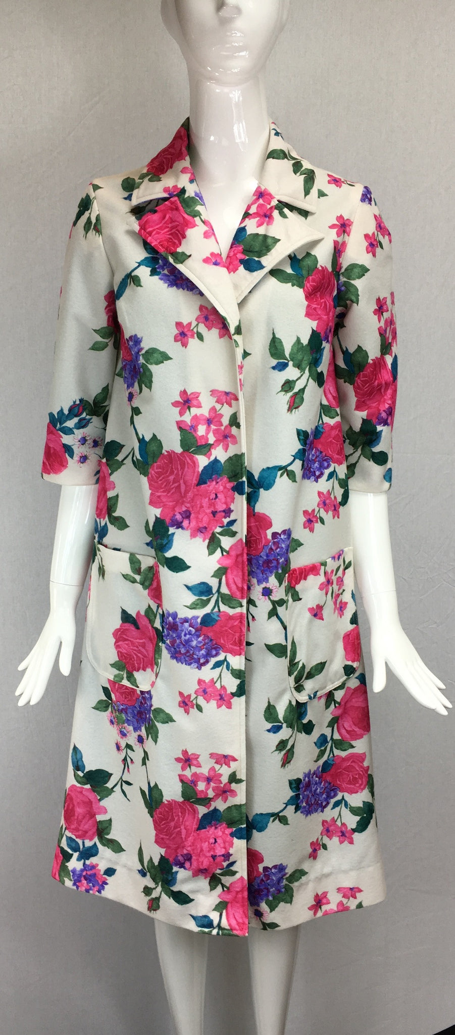 Janet Deleuse Designer Flower Coat, SOLD
