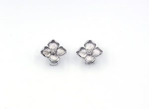 Vintage Flower Diamond Earrings, SOLD