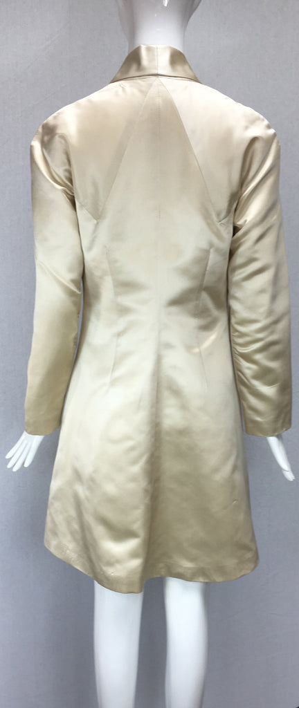 Janet Deleuse Designer Silk Satin Coat, SALE, Sold
