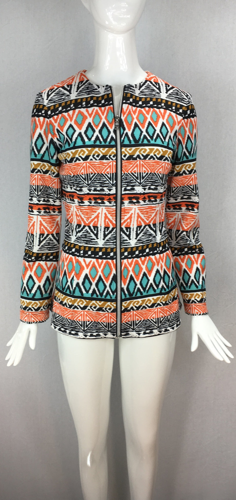 Janet Deleuse Designer Retro Tech Knit Jacket, SOLD OUT