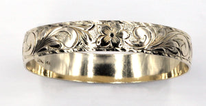 Vintage Engraved Bangle Bracelet, SOLD