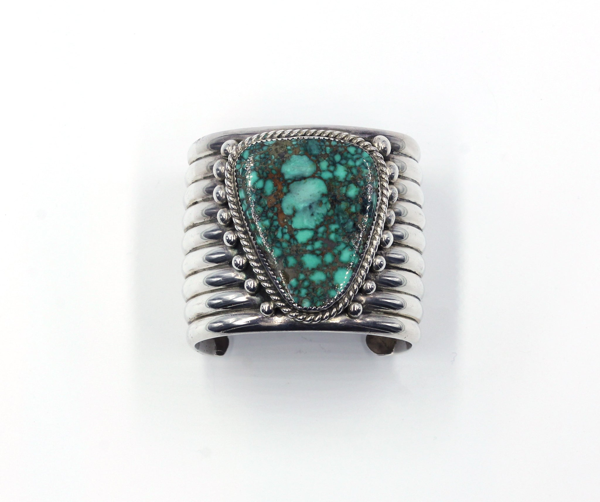 Vintage Native American Turquoise Silver Cuff Bracelet, SOLD
