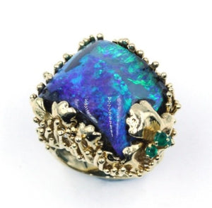 Vintage Opal and Emerald Ring, SOLD
