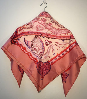 Pre-Owned Hermes Pink Silk Scarf, SALE
