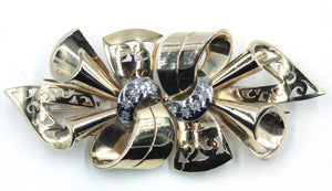Vintage 1940's Gold and Diamond Brooch, SOLD