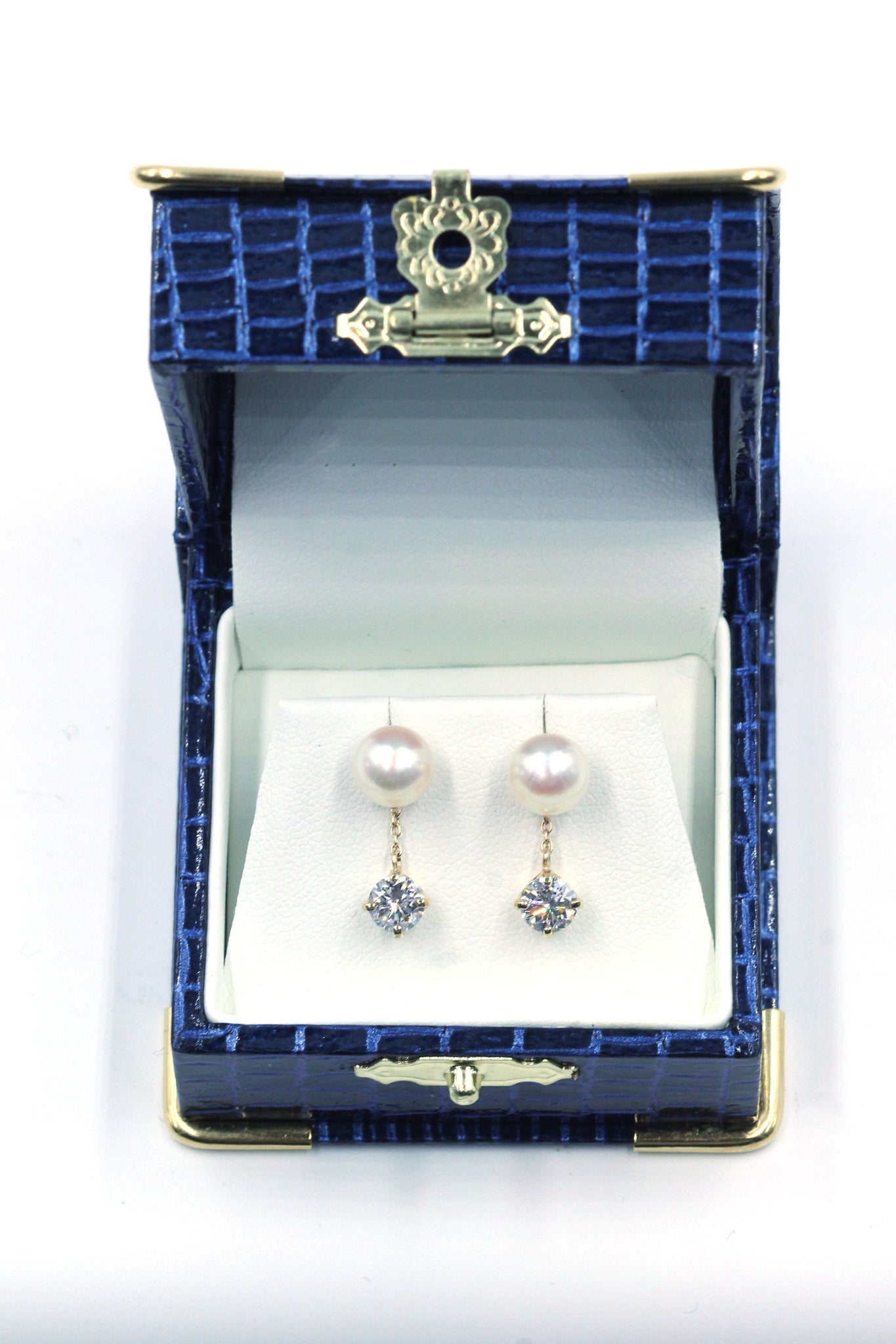 Vintage Diamond and Pearl Earrings, SOLD