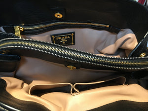 Pre-Owned Deerskin Prada Cervo Nero Handbag, SOLD