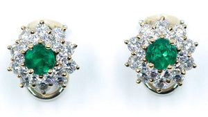 Vintage Tiffany Emerald and Diamond Earrings, SOLD