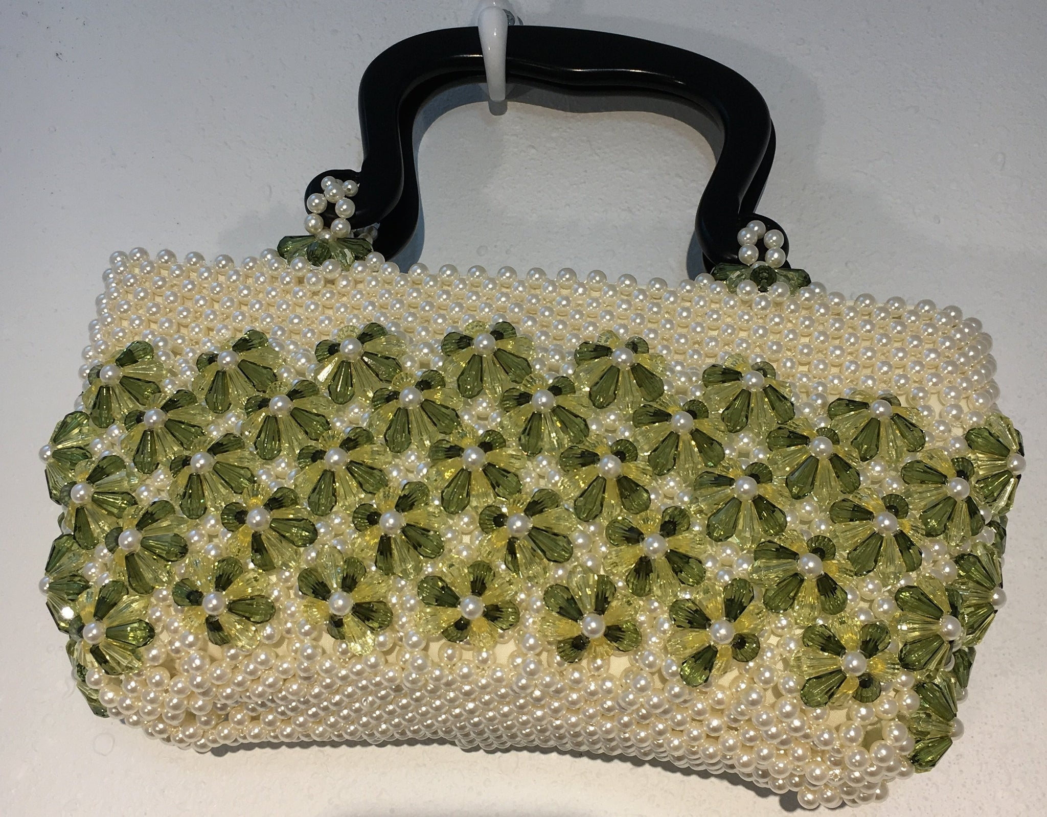 Vintage Beaded Flower Handbag, Sold
