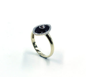 Vintage Onyx and Diamond Ring, SOLD