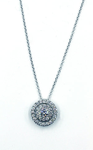 Diamond Halo Pendant, SOLD