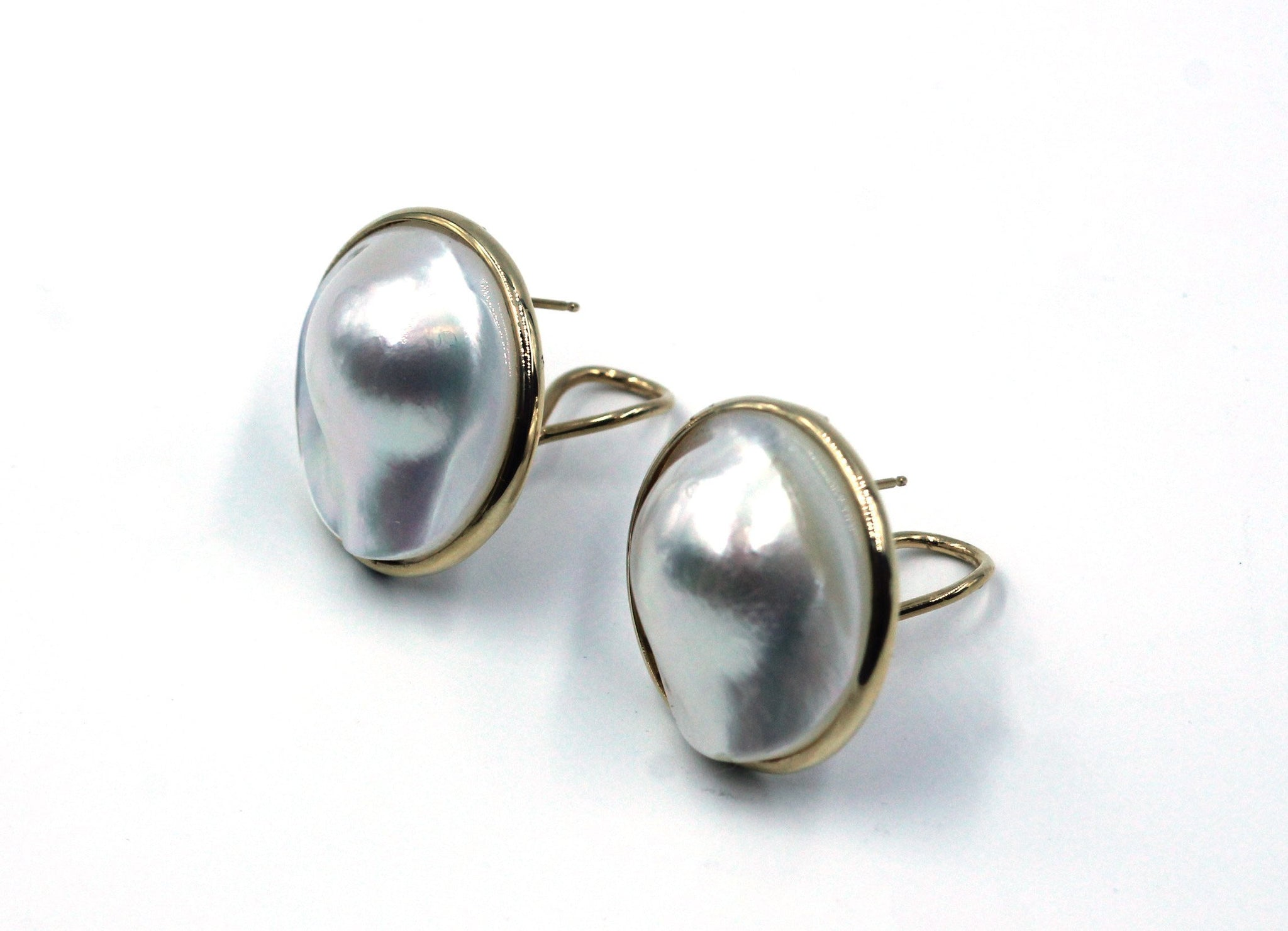 Vintage Mabe Pearl Earrings,  SALE, SOLD
