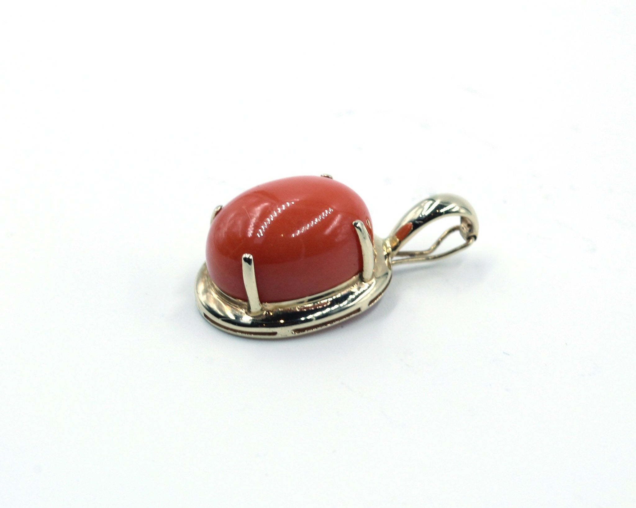 Vintage Cultured Pearls with Coral Pendant, SOLD