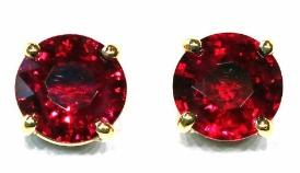 Deleuse Gem Ruby Earrings