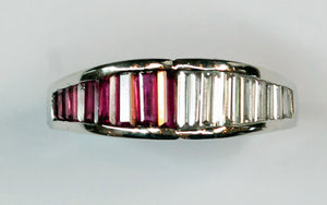 Diamond and Ruby Ring, SOLD