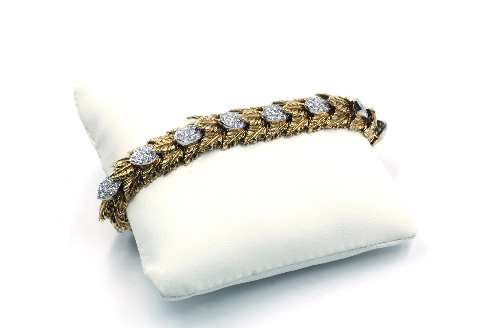 Vintage 18K Gold Diamond Bracelet, SALE