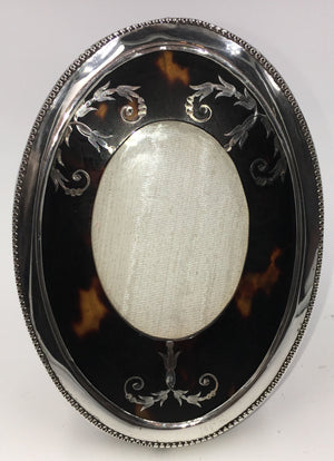 Vintage Sterling Silver and Faux Tortoise Shell Frame, SUPER SALE, SOLD