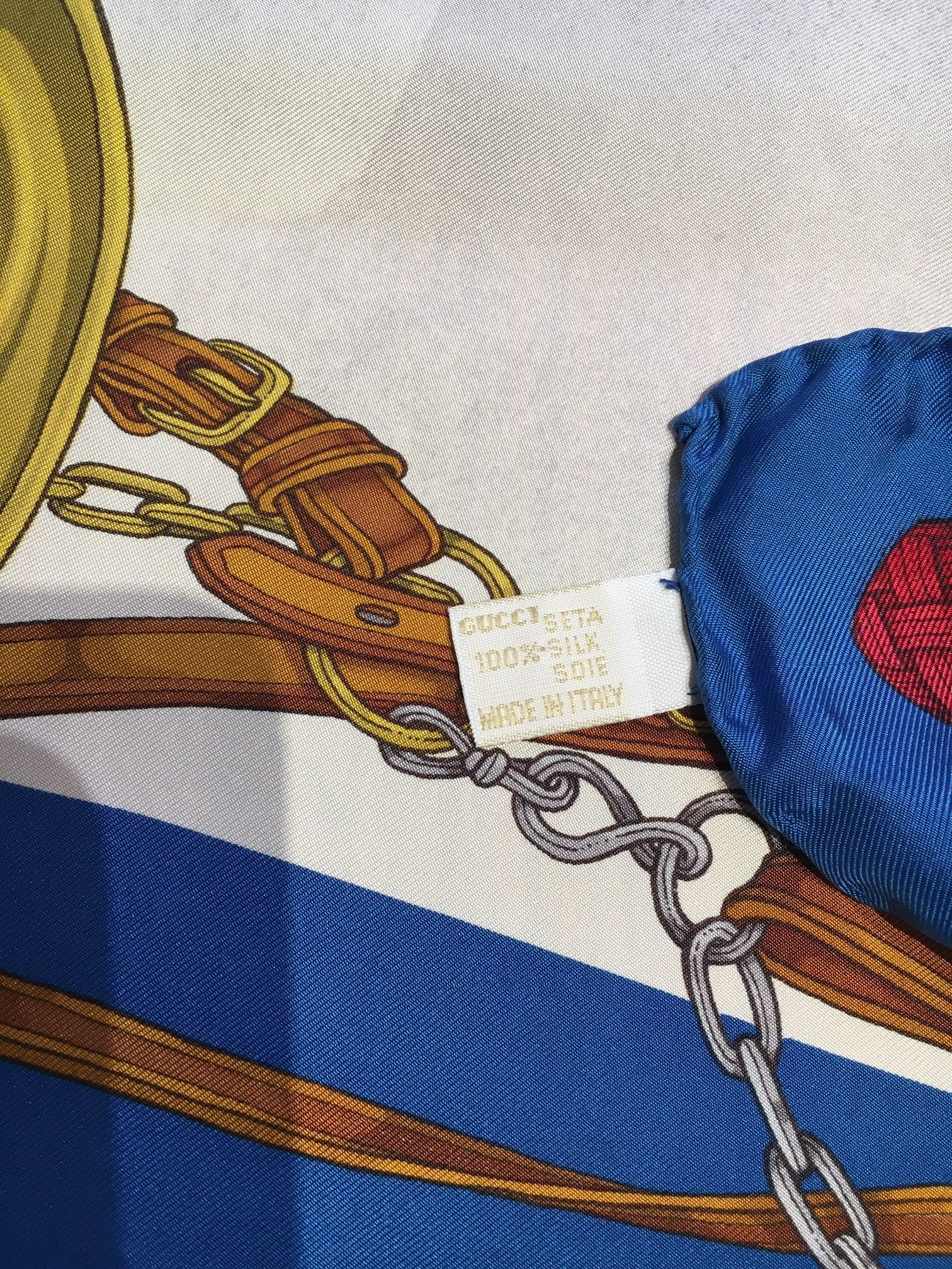 Vintage Gucci Silk Scarf, SALE, SOLD