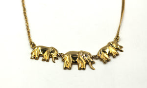 Vintage 18k Elephant Necklace