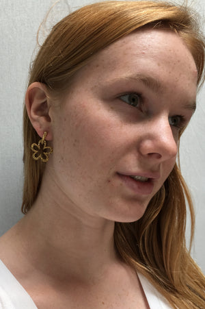 Janet Deleuse Designer Yellow Sapphire Earrings, SOLD